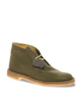 Image 1 ofClarks Originals British Millerain Waxed Desert Boots