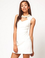 River Island Embellished Dress With Cut Out Detail