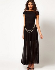 Rare Maxi Dress with Bandage Skirt and Chain Belt