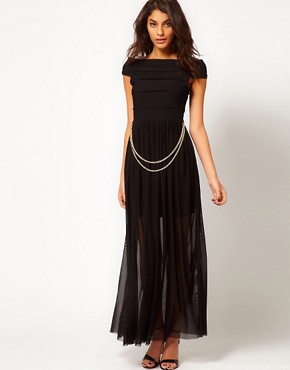 Image 1 ofRare Maxi Dress with Bandage Skirt and Chain Belt