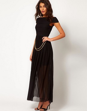 Image 4 ofRare Maxi Dress with Bandage Skirt and Chain Belt
