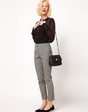ASOS Super Skinny Pants In Herringbone Print