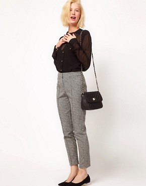 ASOS Super Skinny Trousers In Herringbone Print