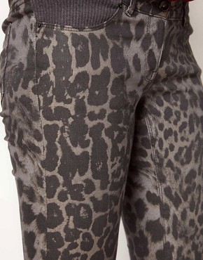 Image 3 ofASOS Maternity Exclusive Skinny Jean In Animal Print