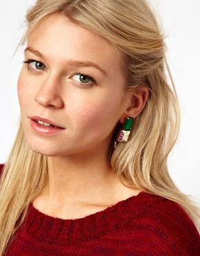 Image 2 ofASOS Gem Stud Earrings