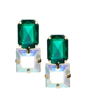 Image 1 ofASOS Gem Stud Earrings