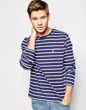 Jack Wills T-Shirt with Breton Stripes Long Sleeves