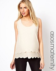 ASOS Maternity Exclusive Tank with Double Scallop