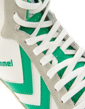 Image 2 ofHummel Stadil Mid Retro Trainers