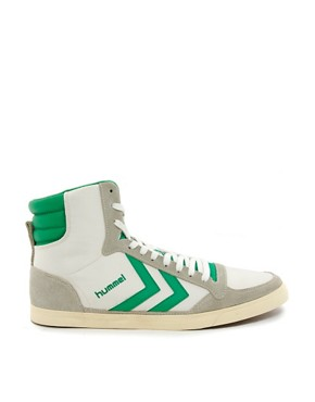Image 4 ofHummel Stadil Mid Retro Trainers