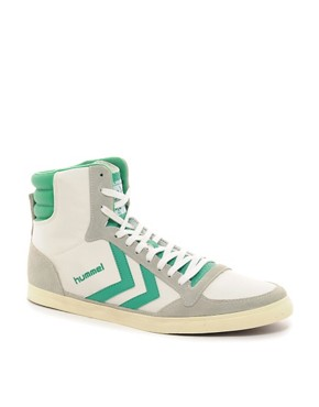 Image 1 ofHummel Stadil Mid Retro Trainers