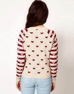 Image 2 ofRiver Island Chelsea Girl Heart Print Jumper
