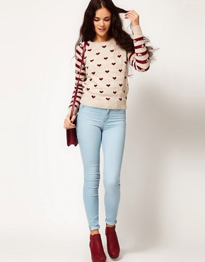 Image 4 ofRiver Island Chelsea Girl Heart Print Jumper