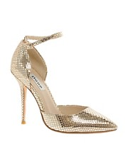 Dune Charm Snake Print Court Shoes