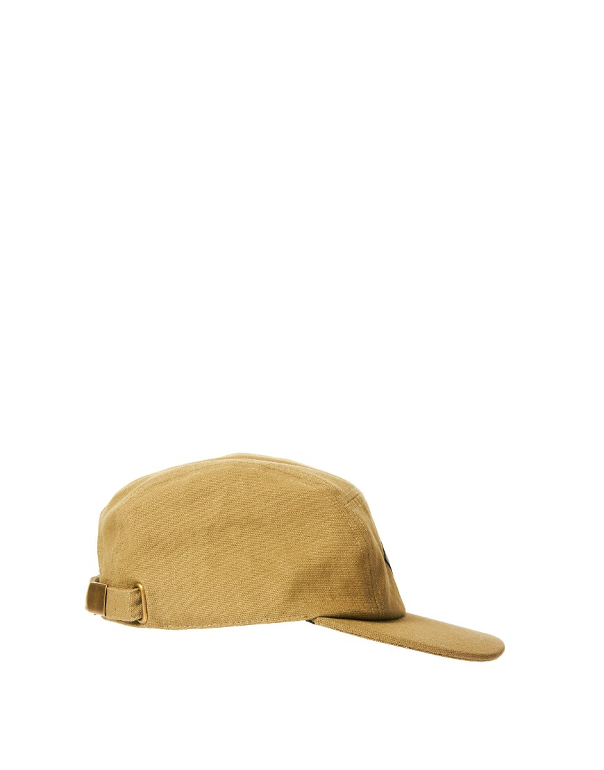 Image 4 of ASOS 5 Panel Cap with Leather Look Patch