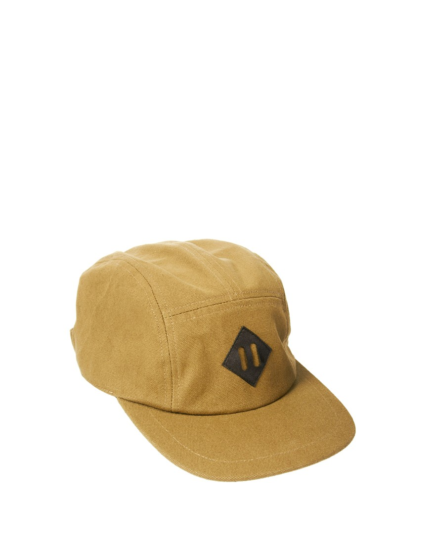 Image 1 of ASOS 5 Panel Cap with Leather Look Patch