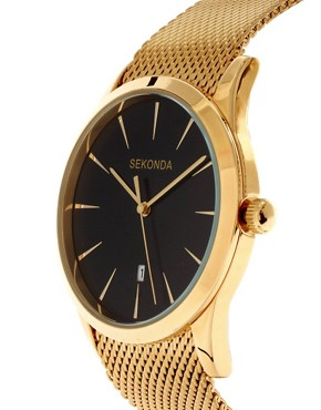 Image 3 ofSekonda Gold Watch with Mesh Strap
