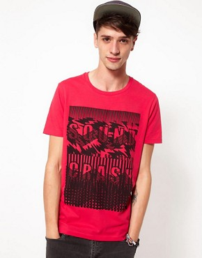 Image 1 ofASOS T-Shirt With Sound Crash Print