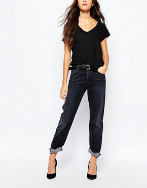 7 For All Mankind 1984 Boyfriend Jeans With Roll Hem