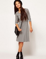 People Tree Organic Cotton Skater Dress in Stripe