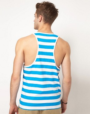 Image 2 ofASOS Stripe Vest With Polka Dots