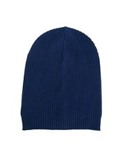ASOS Oversized Beanie In Navy