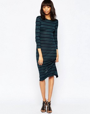 French Connection Mix It Up Stripe Midi Dress