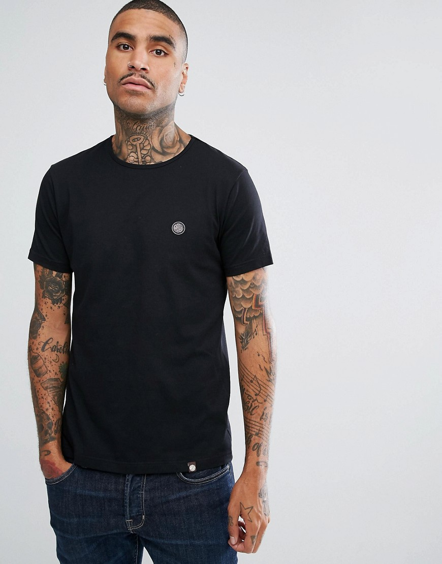 Pretty Green Short Sleeve Jersey T-Shirt In Black - Black