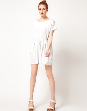 Image 4 ofVila Linen Blend Belted Dress