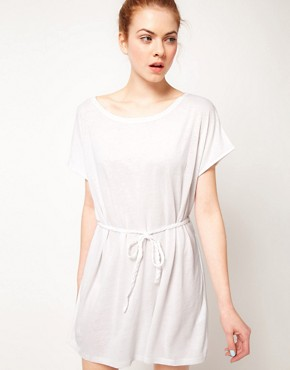 Image 1 ofVila Linen Blend Belted Dress