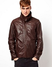 Diesel Leather Jacket Literal