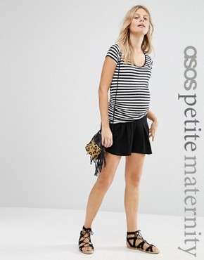 ASOS Maternity PETITE Pleat Short
