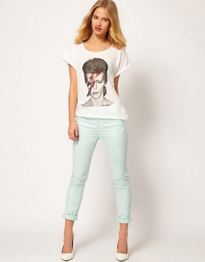 Image 4 ofSelected Annie Twill High Waisted Skinny Jeans