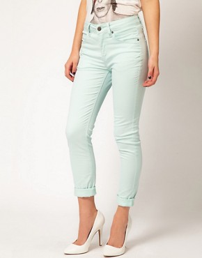 Image 1 ofSelected Annie Twill High Waisted Skinny Jeans