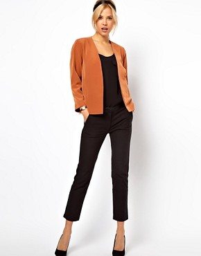 Image 4 ofASOS Cropped Soft Blazer