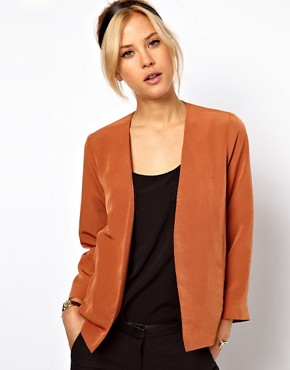 Image 1 ofASOS Cropped Soft Blazer