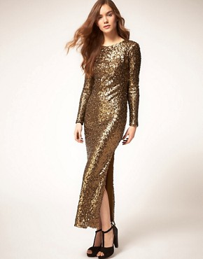 Image 1 ofRiver Island Sequin Maxi Dress