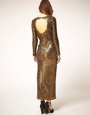 Image 2 ofRiver Island Sequin Maxi Dress