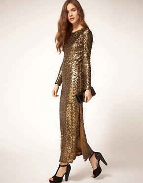 Image 4 ofRiver Island Sequin Maxi Dress