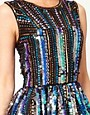 Image 3 ofASOS Skater Dress in Holographic Sequin
