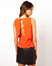 Rare Scallop Top with Open Back