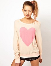 Wildfox Heart Baggy Jumper