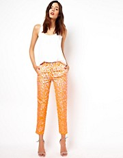 ASOS Trousers in Neon Jacquard