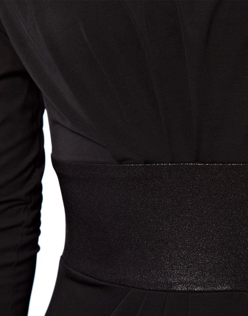 Image 3 ofVila Midi Dress With Satin Waist Detail