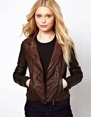 River Island Leather Look Color Block Jacket