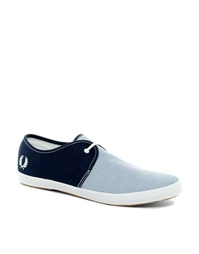 Image 1 ofFred Perry Banks Striped Plimsolls