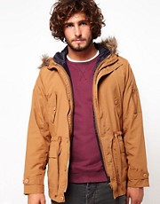 ASOS Parka Jacket With Removable Gilet