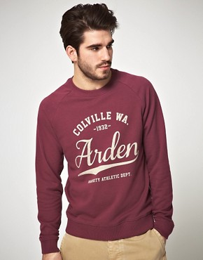 Image 1 of ASOS Sweatshirt With Varsity Print