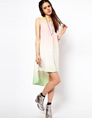 Just Female Dip Dyed Shirt Dress