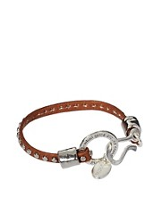 Jamie Jewellery Karma Leather Stud Bracelet